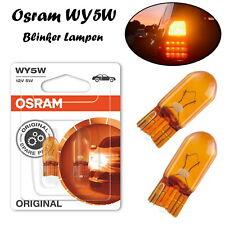 Osram WY5W 12V W2.1x9.5d 2827-02B Orange Blinker Halogen Lampen Doppelblister