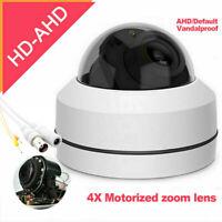 HD-TVI CVI AHD CCTV Camera,Mini IR PTZ Dome 2MP HD Analog 4X Zoom 2.7-13.5mm UK