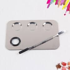Pro Cosmetic Makeup Tool Mixing Palette Stainless Steel Cosmetic Foundation Tool