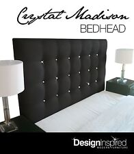 CRYSTAL MADISON Upholstered Bedhead / Headboard for King Ensemble - Ebony