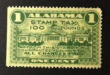 SCARCE Alabama State Feed Inspection Tax Stamp #FE35 - 1 Cent, 100 lbs. used AL