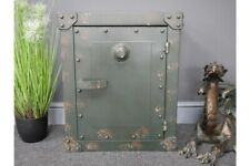 Industrial Safe Style Aged Metal Storage Unit / Bedside Cabinet