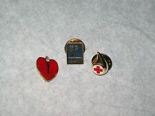 American Heart Association, American Red Cross & Realtor Pinbacks