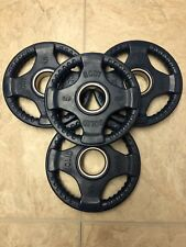 New Rubber Grip Olympic Weight Plates- (4) 5's- 20lbs Total