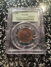 1902 Canada Large Cent PCGS MS63 Red Brown Lot#G355 Beautiful Example! OGH
