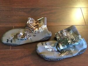 NWOT UA Under Armour Realtree Camo Sneaky Silent Approach stalking shoe boots 11
