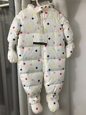 NWT Baby Gap Polka Dotted Down Fill Snow Suit 6-12 Months