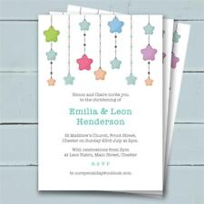 30 Personalised Christening Birthday invitations invites girl boy unisex joint