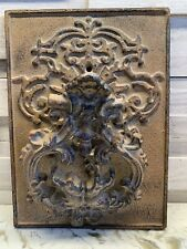 Used: Rustic Cast Iron Brown Rectangular Door Knocker