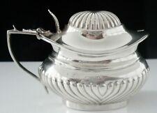 Antique Silver Semi Fluted Mustard Pot, Birmingham 1899