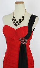 Terani Sequin Red Black  $210 Prom Size 0 Short Gown Evening Dress Formal Club