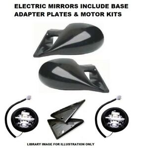 VAUXHALL CORSA A (87-93) M3 STYLE CAR DOOR MIRRORS BASE PLATES - ELECTRIC