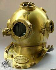 Collectible Antique Brass Sea Marine Scuba Diving Divers Helmet Deep Sea Navy