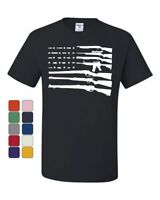 American Flag Guns 2nd Amendment T-Shirt Gun Rights Tee