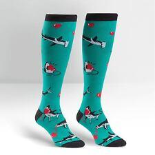 Sharks & Hearts...Love Bites on Women's Knee High Socks by Sock It To Me