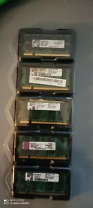 Kingston 2GB PC2-6400 DDR2-800 MHz Laptop RAM Sodimm . Each chip is 2gb = 2gbX1