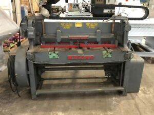 """Wysong 1252 12 Gauge x 52"""" Mechanical Shear with Front Supports & Back Gauge"""