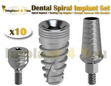X10 Spiral Implant + Healing Cap Regular + Straight Abutment With Shoulder Set