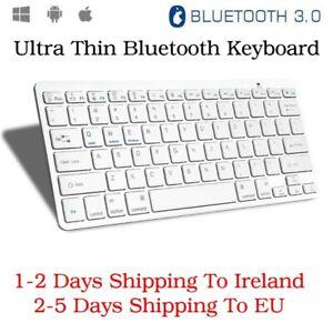 Thin Wireless Bluetooth Keyboard For iOS Apple iPad PC Windows Android Universal