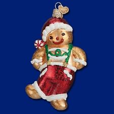 """""""Frolicking Gingerbread Boy"""" (32192) Old World Christmas Glass Ornament"""