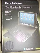 BROOKSTONE MINI BLUETOOTH KEYBOARD WITH TECH-GRIP CASE FOR IPAD MINI TABLET BK
