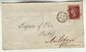 "1869 G.B. QUEEN VICTORIA  1 COVER  """" 131 """" DUPLEX  MACKAY TYPE 1140 RARITY ""D"""