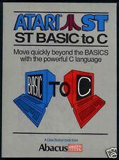 Basic to C  Atari ST/Stacy/TT  Abacus #11 New