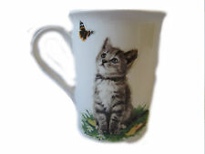 The Leonardo Collection gato gris Taza de porcelana fina