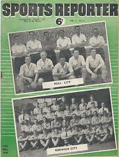 1949 Sports Reporter magazine (Hull City, Norwich City, Derby County, Southend)