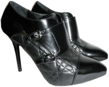 $1175 Christian Dior CITY Black Cannage Quilted Boot Buckle Pump Bootie 38- 7