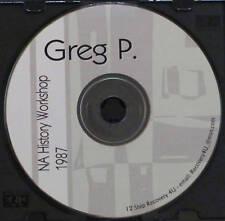 Narcotics Anonymous CD Speaker Greg P. History Workshop