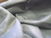 Faux Suede Suedette Fabric Material New Grey All Sizes Bulk Discounts FREE POST