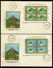 1978 King Decebalus,Decebal,Deva Fortress,Mircea,Ship,TULCEA,Romania,Bl.151,FDC