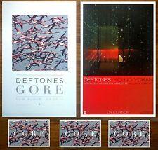 Deftones Gore | Koi No Yokan 2016 Ltd Ed Rare 2 Posters + 3 Stickers Lot! Metal