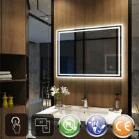 Moderner Bad-Spiegelschrank 60x60 cm 2 türig mit LED Beleuchtung Jaramillo