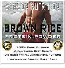 BROWN RICE PROTEIN POWDER 10kg  UNFLAVOURED ALTERNATIVE TO WHEY PROTEIN WPI WPC