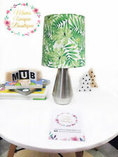 Green Leaves Leaf Palm Forest Children Nursery Table Lamp Night Light Touch Lamp