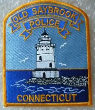 Patch- Old Saybrook Connecicut Police Patch (NEW, 122 x 100 mm)