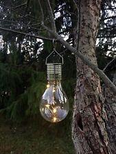 Solar Light Bulb, S Hook Hanger, by Industrial Rewind