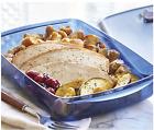 Tupperware Vent N Serve Large Dish 6 Cup BPA Free Microwave Safe Dark Blue New