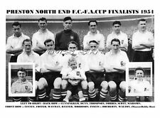 PRESTON NORTH END TEAM PRINT 1954 - F.A.CUP FINALISTS