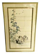 CIRCA 1850 JAPANESE MARUYAMA/SHIJO SCHOOL VERTICAL PANEL WATERCOLOR PAINTING
