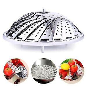 23cm Stainless Steel Collapsible Steamer Basket,Pot/Pressure Cooker Accessories