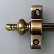 ANTIQUE BRASS 3/8 INCH REED STAIR RODS URN FINIAL (R02REU)