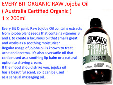 1  x 200ml EVERY BIT ORGANIC RAW Jojoba Oil ( Australia Certified Organic )