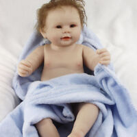 "20"" Lifelike Full Body Vinyl Silicone Newborn Reborn Baby Boy Doll Toy Girl Gift"