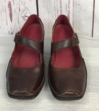 CLARKS ACTIVE AIR SIZE UK 5 BROWN LEATHER WEDGE MARY JANE STYLE SHOES