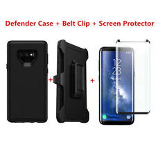 For Samsung Galaxy Note 9 Case Cover W/Clip Fit Otterbox Defender&Screen Black