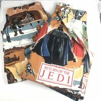 "Vintage Return of the Jedi Bedroom Curtains 1983 Pair of Star Wars 40""x 48"" ROTJ"