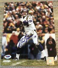 Brad Johnson Minnesota Vikings Autographed Signed 8x10 Photo PSA/DNA COA